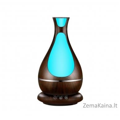 MiniMu oro drėkintuvas su aroma, šviečiantis 7 spalvomis, 400 ml talpos indas vandeniui