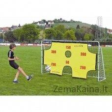 Mobilūs futbolo vartai + atmušimo sienelė Spartan 290x165x90cm