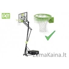 Mobilus krepšinio stovas su spyruokliuojančiu lanku Exit Galaxy 116x77cm