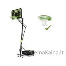 Mobilus krepšinio stovas su spyruokliuojančiu lanku Exit Galaxy Black 112x73cm