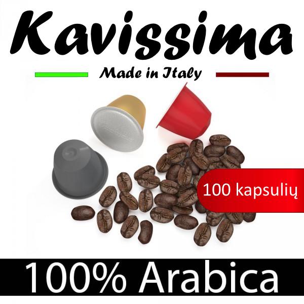 Nespresso KAVISSIMA kavos kapsulių rinkinys, 100 kavos kapsulių