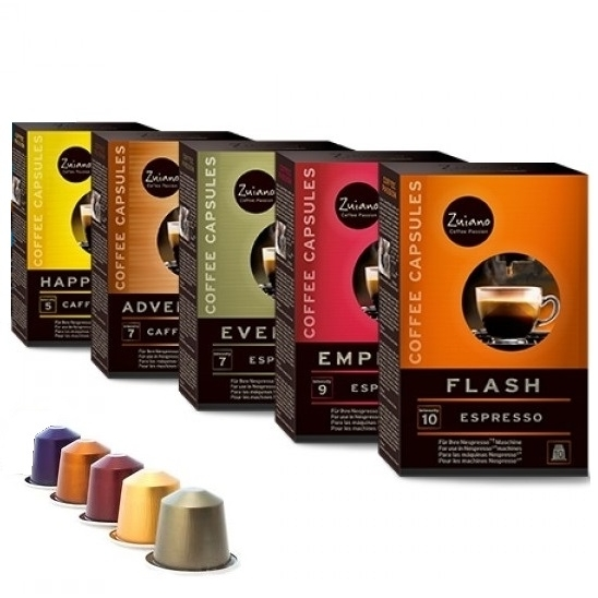 NESPRESSO kavos kapsulių rinkinys, 5 skirtingos rūšys, 50 kapsulių