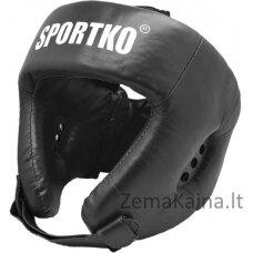 Odinis bokso šalmas SportKO OK1 - Black L