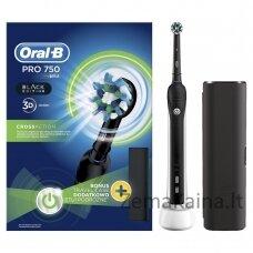 Oral-B Pro 750 Black  elektrinis dantų šepetėlis