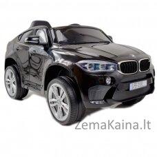 Originalus juodas elektromobilis BMW X6M 2199 su nuotolinio valdymo pultu