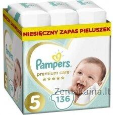 Pampers Premium Protection 81689094 vienkartinės sauskelnės Berniukams / mergaitėms 5 136 vnt