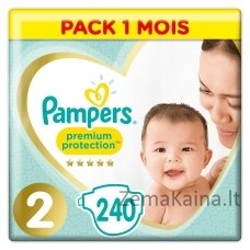 Pampers Premium Protection Size 2, Nappy x240, 4kg-8kg