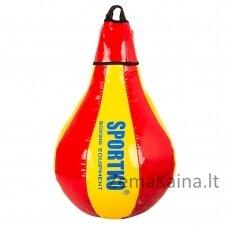 Pasunkinta greičio kriaušė SportKO GP1 40cm 5kg - Red-Yellow