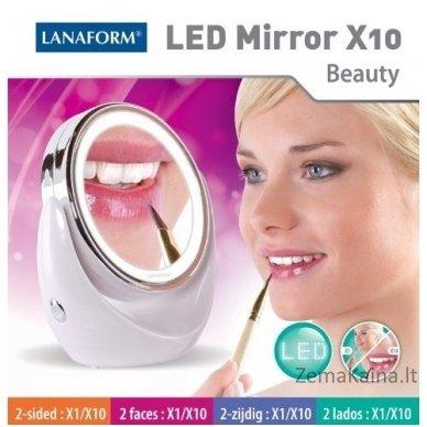 Padidinamasis veidrodis LANAFORM su LED apšvietimu (x10) 2