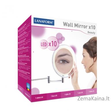 Padidinamasis veidrodis LANAFORM x10 su LED apšvietimu 3