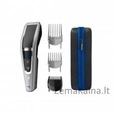 """Philips 5000 series """"Trim-n-Flow PRO"""" technologija, plaunama plaukų kirpimo mašinėlė"""