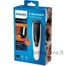 Philips BEARDTRIMMER Series 3000 1 mm tikslūs ilgio nustatymai, barzdos kirptuvas