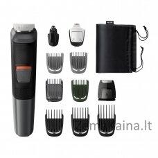 Plaukų kirpimo mašinėlė Philips MULTIGROOM Series 5000 11 tools 11-in-1, Face, Hair and Body