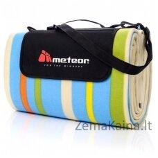 Pikniko kilimėlis METEOR 200x200 cm, daugiaspalvės juostelės