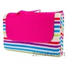 Pledas piknikams ISL Chequered Pink Stripe