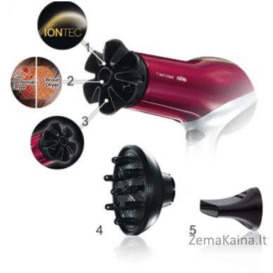 Plaukų džiovintuvas Braun Jonizavimo funkcija, Motoro tipas DC, 2000 W, Black/Red 3