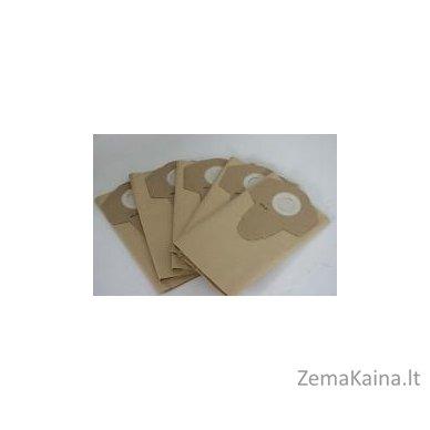 Popierinis filtro maišelis, 5 vnt po 30 Ltr (rudas) Grizzly NTS 1423-Inox siurbliui 2