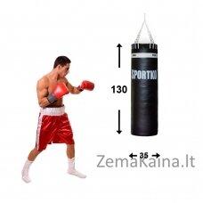 Profesionalus odinis bokso maišas SportKO Leather 130/35 60kg