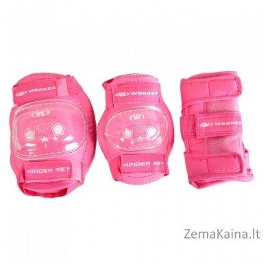 Apsaugų rinkinys WORKER Protectors Pink 3