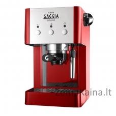 Rankinis kavos aparatas Gran Gaggia Deluxe RI8425/22, raudonas