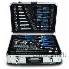 Rankinių įrankių rinkinys TB150 metaliniame lagamine 101 vnt, Scheppach