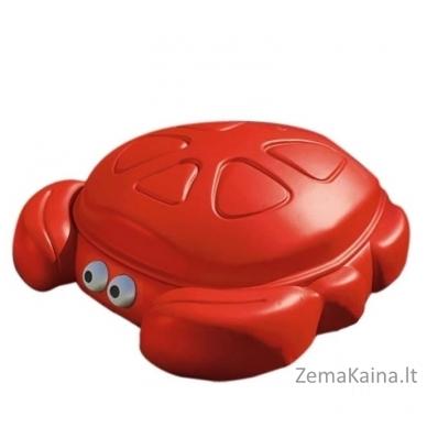 Raudona smėlio dėžė - krabas su dangčiu STEP2 4