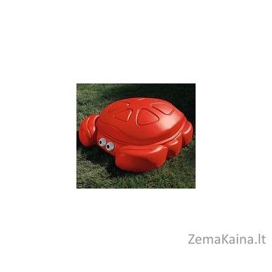 Raudona smėlio dėžė - krabas su dangčiu STEP2