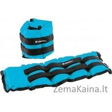 Reguliuojami rankų ir kojų svoriai inSPORTline BlueWeight PRO 2x2kg