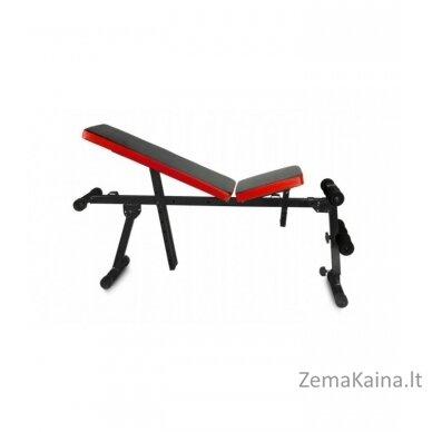 Reguliuojamas treniruočių suolelis, juoda/ raudona 4