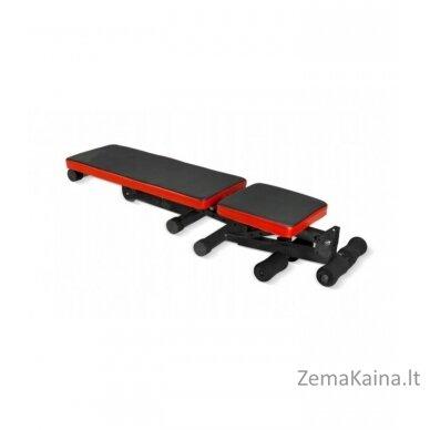 Reguliuojamas treniruočių suolelis, juoda/ raudona 5