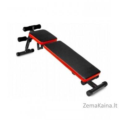 Reguliuojamas treniruočių suolelis, juoda/ raudona 2