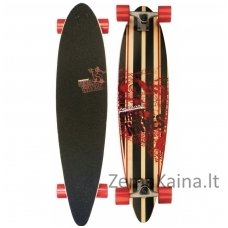 "Riedlentė LONGBOARD STREET WAVES 39"" PINTAIL Red"