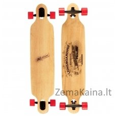 "Riedlentė WOODEN WARRIOR 42"" DROP-THROUGH LONGBOARD"