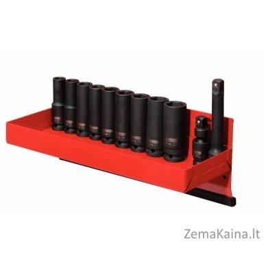 "Šešiakampių smūginių galvučių komp.1/2"" 12-22mm 13-vnt, ilga, KS tools"