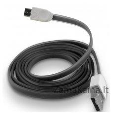 Silikoninis micro USB laidas FOREVER black