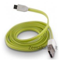 Silikoninis micro USB laidas FOREVER green