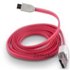 Silikoninis micro USB laidas FOREVER pink