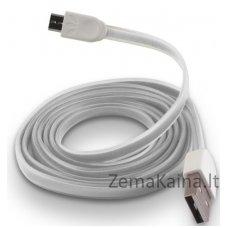 Silikoninis micro USB laidas FOREVER white