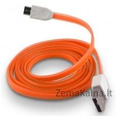 Silikoninis micro USB laidas FOREVER orange