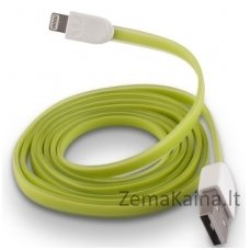 Silikoninis USB laidas FOREVER MD818ZM/A green (iPhone 5/6)