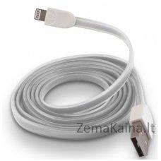 Silikoninis USB laidas FOREVER MD818ZM/A white (iPhone 5/6)