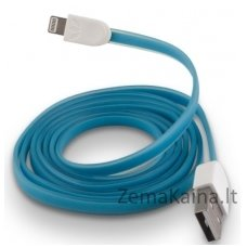 Silikoninis USB laidas FOREVER MD818ZM/A blue (iPhone 5/6)