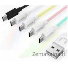 Silikoninis USB laidas USAMS US-SJ098-WH balta