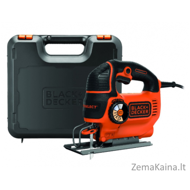 Siaurapjūklis Black+Decker KS801SEK 80 mm 550 W, Kitbox