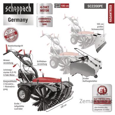 Šlavimo mašina SC2200PE, Scheppach 3
