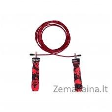 Šokdynė su guoliais reguliuojamo ilgio inSPORTline Jumpkamu (raudonas)