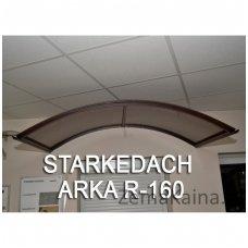 Stogelis STARKEDACH ARKA R-160, rudas rėmas, skaidri danga