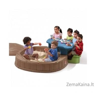 STEP 2 smėlio dėžė su staliuku, skėčiu ir suoliuku 3