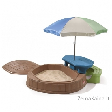 STEP 2 smėlio dėžė su staliuku, skėčiu ir suoliuku 4
