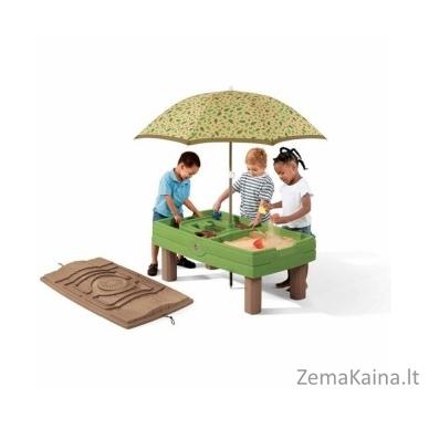 STEP 2 smėlio ir vandens žaidimų stalas su skėčiu